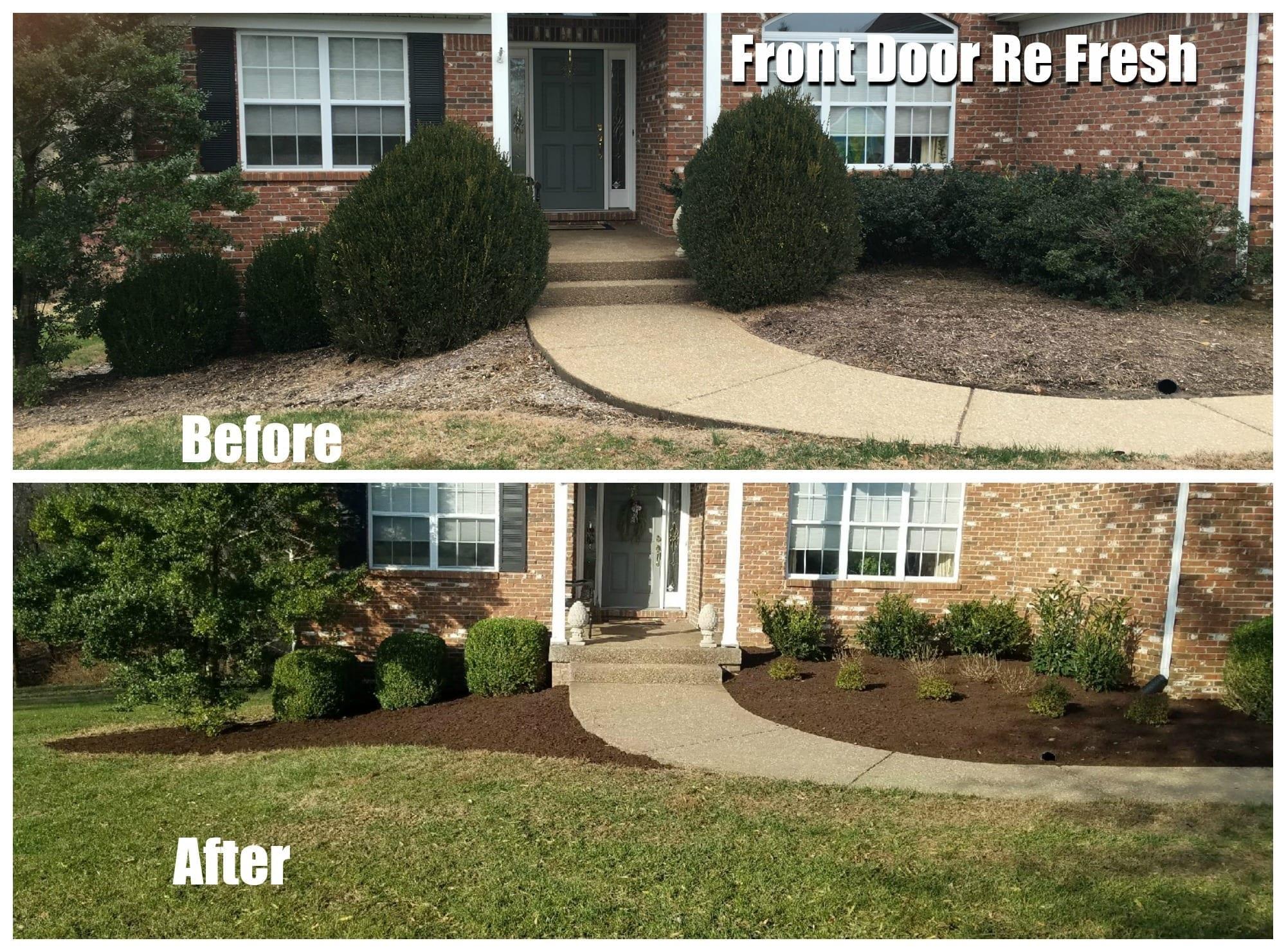 Front door refresh landscaping