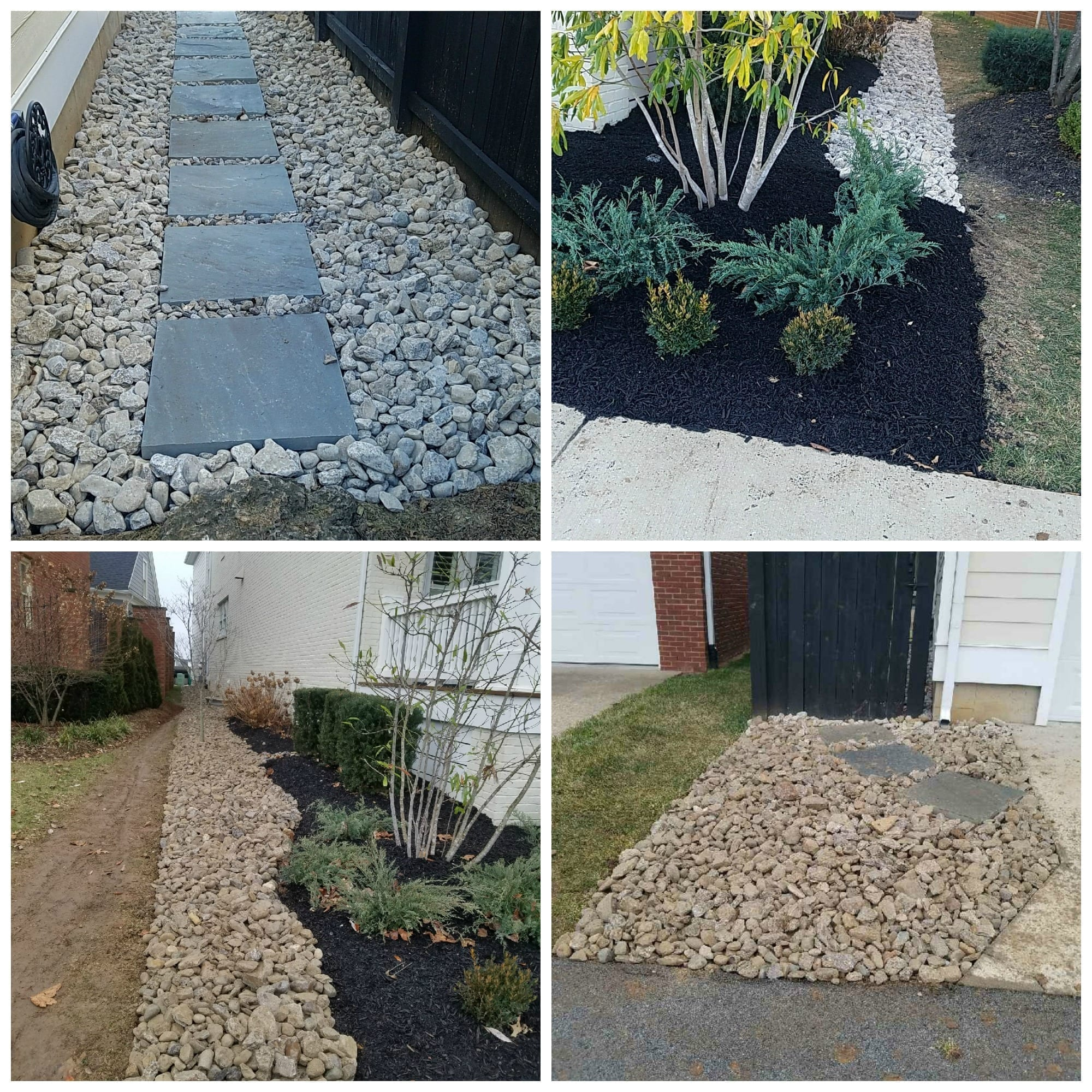 Rock and Mulch Landscaping